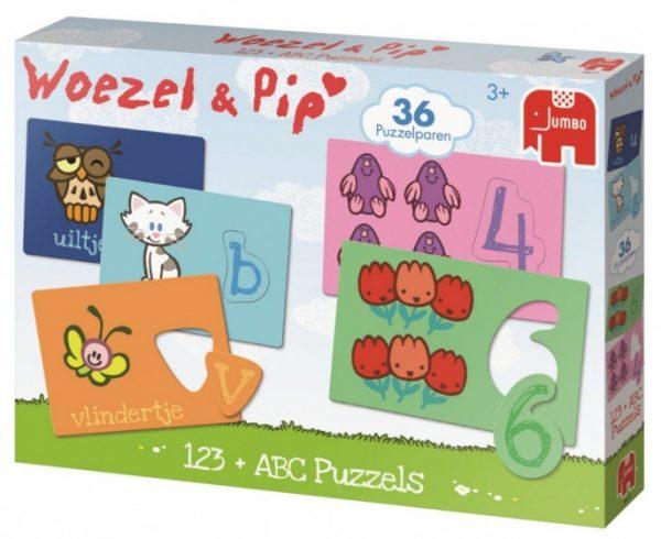 Jumbo Woezel & Pip ABC en 123 leerpuzzel 36 stukjes