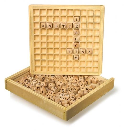 Small Foot Houten Set: Woorden Leggen 145 Blokjes