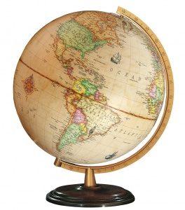 Columbus wereldbol Renaissance 30 cm bruin