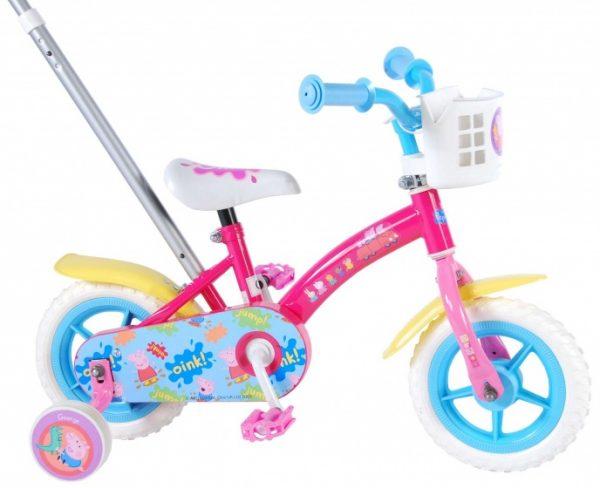 Peppa Pig duwfiets 10 Inch 18 cm Meisjes Doortrapper Roze