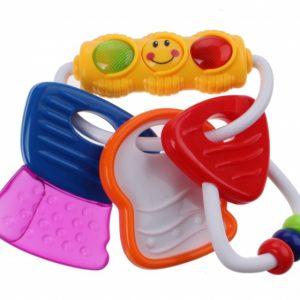 Jonotoys activity keys baby sleutels met licht rood