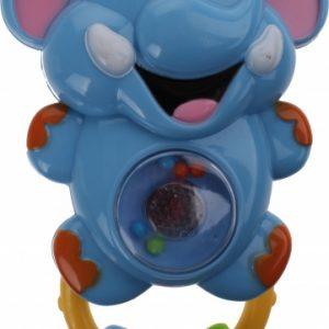 Let's Play rammelaar olifant blauw 15 cm