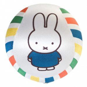 Rubo Toys speelbal Miffy - Nijntje satijn 12,5 cm wit-streep